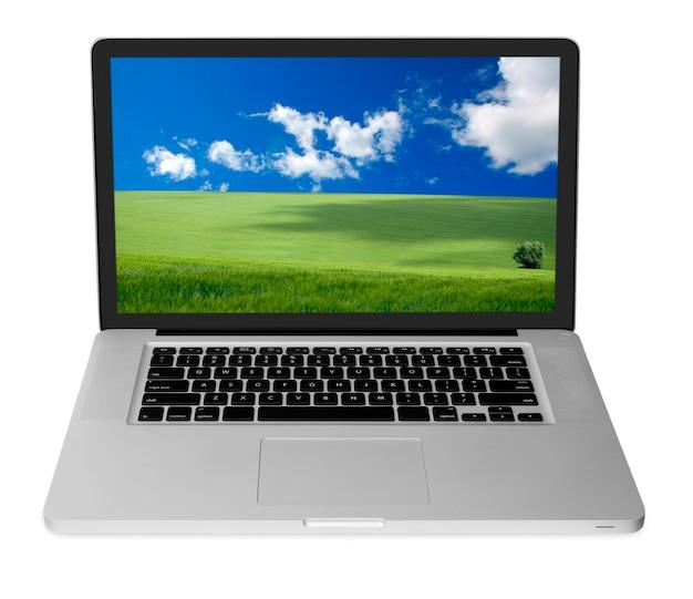 Современный ноутбук, изолированные на белом фоне