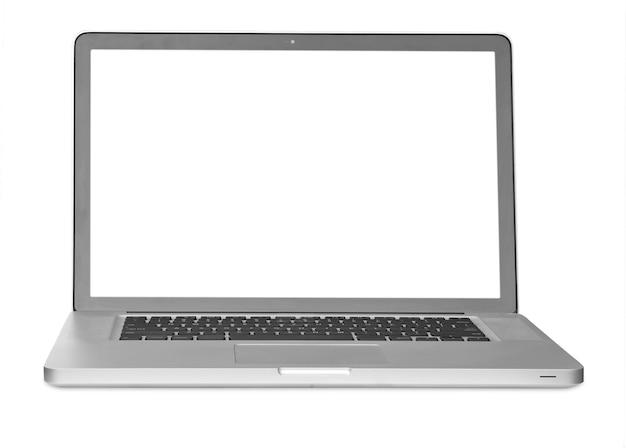 현대 노트북 흰색 배경에 고립입니다.