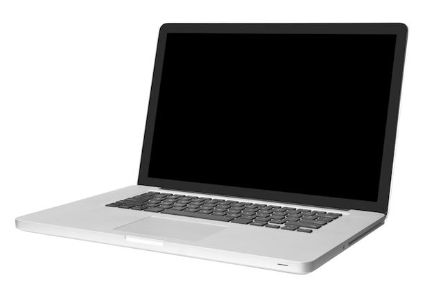 Современный ноутбук, изолированные на белом фоне с тенью
