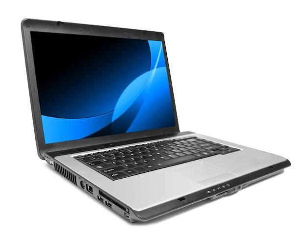 Современный ноутбук на белом