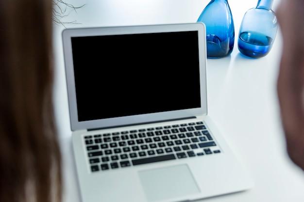 Modern laptop screen template