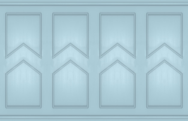 Modern light blue square classical wall design background.