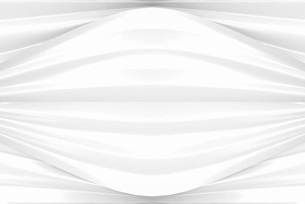 Modern light white curve waving pattern wall background.