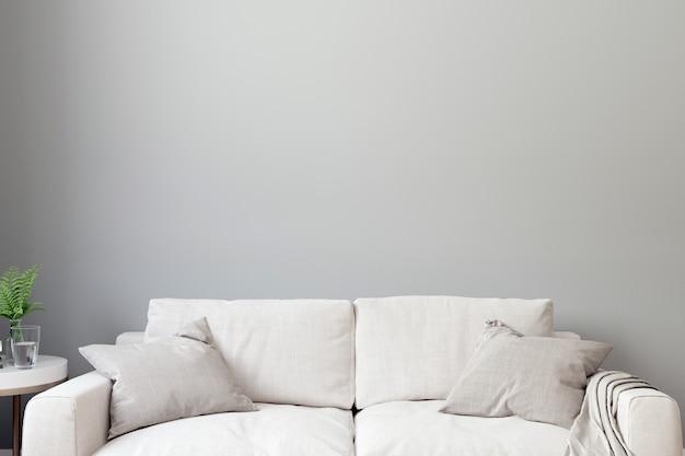 현대 거실 인테리어 배경, 스칸디나비아 스타일, 3d 일러스트