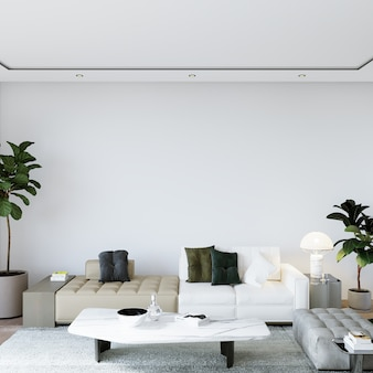 Modern living room with furniture