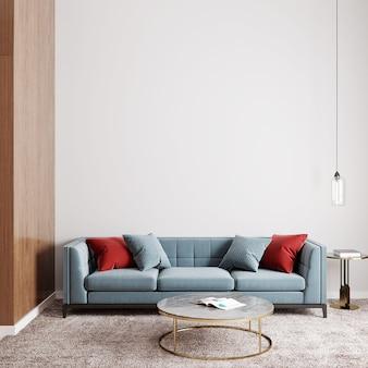 ソファとカラフルな枕のあるモダンなリビングルーム