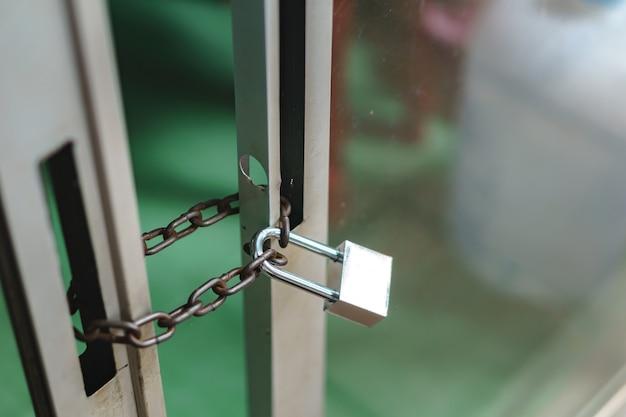 Modern lock with steel chain