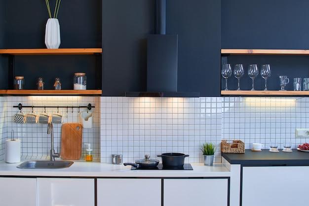 현대 로프트 스타일 주방