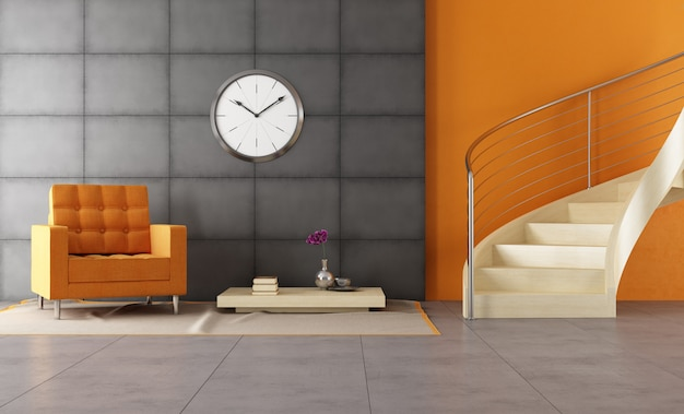 Modern louge with staicase