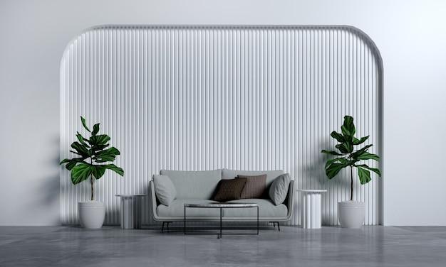 Современная гостиная и гостиная, дизайн интерьера в стиле макета и текстура стены