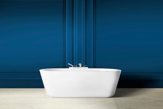 Interior design moderno del bagno di lusso con parete a pannelli