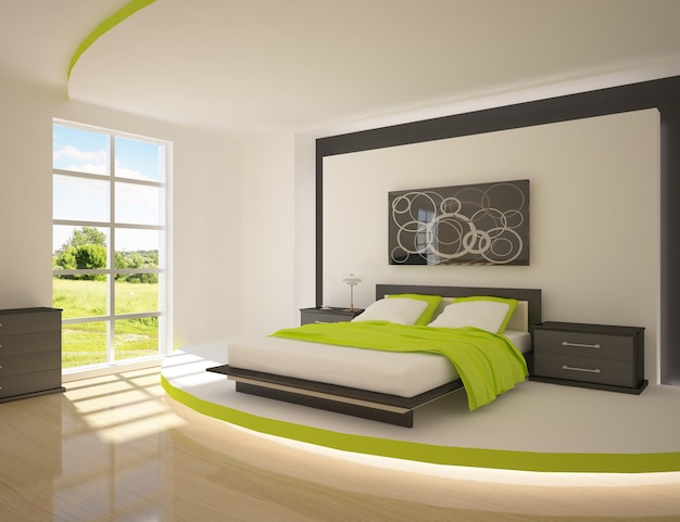 Modern luxury bedroom interior