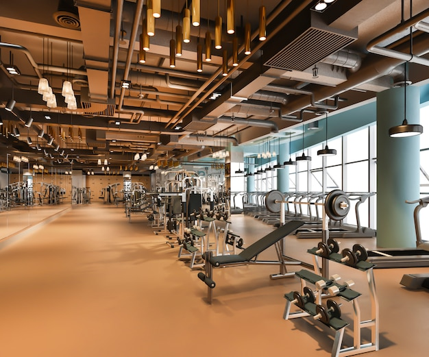 Modern and luxury fitness and gym