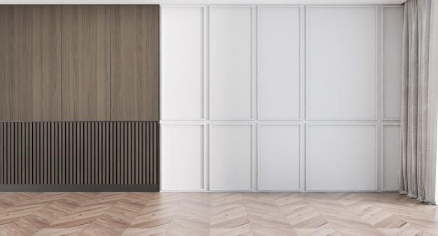 현대 럭셔리 하우스와 빈 거실과 벽 질감 배경의 인테리어 디자인