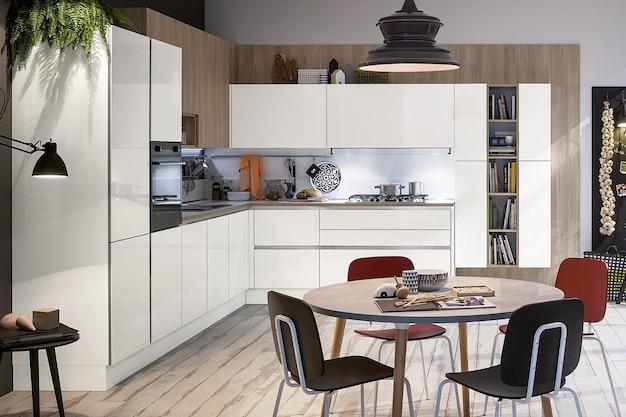 Дизайн интерьера современной роскошной кухни в стиле минимализм