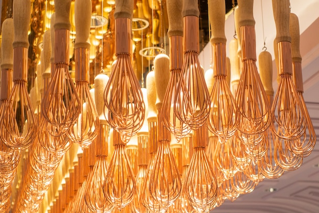 Modern luxury lamp in beautiful restaurant