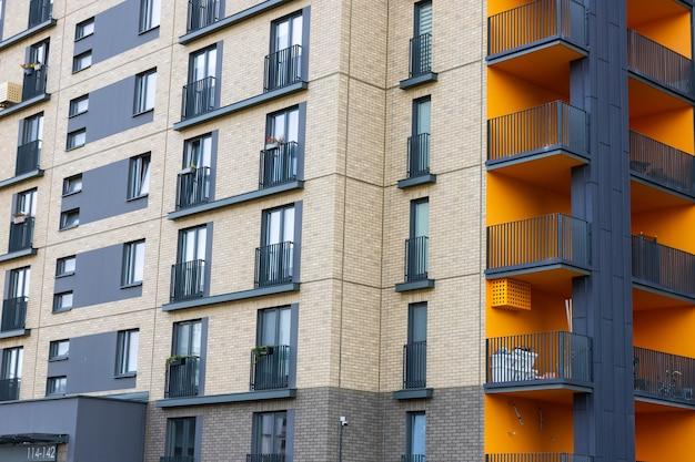 Modern luxury residential building against the sky.