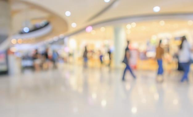 현대 럭셔리 쇼핑몰 백화점 인테리어 흐림 bokeh 빛으로 추상 defocused 배경