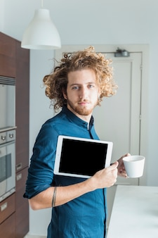 Modern man with tablet