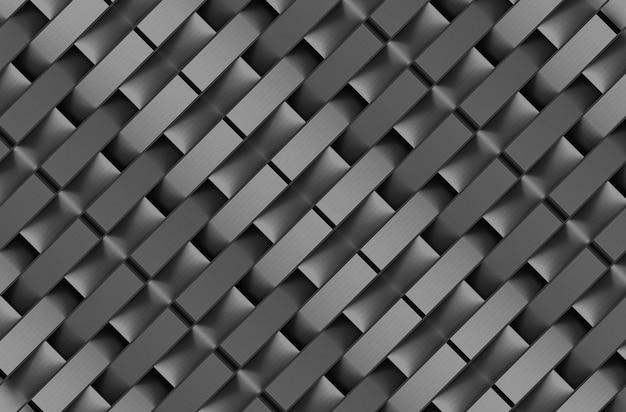モダンなメタルダークレクタングルジップシェイプパターンの壁