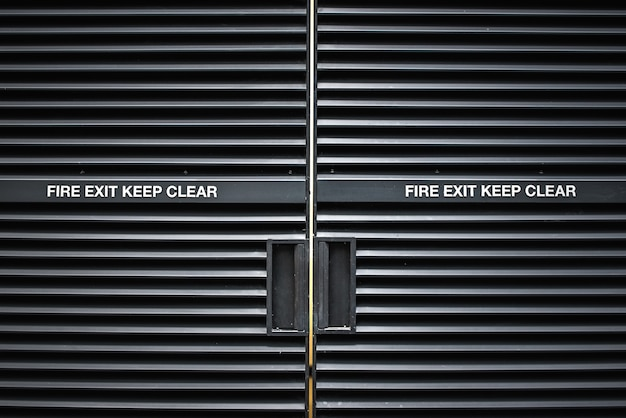 Modern metal fire exit door