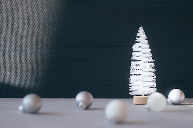 Modern minimal christmas festive gift winter background