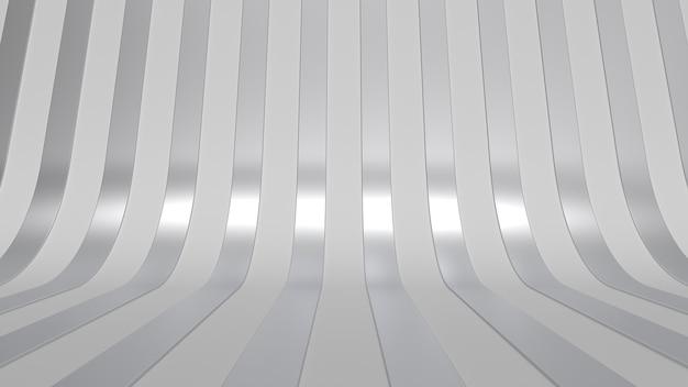 Modern minimal studio background metal simple 3d render