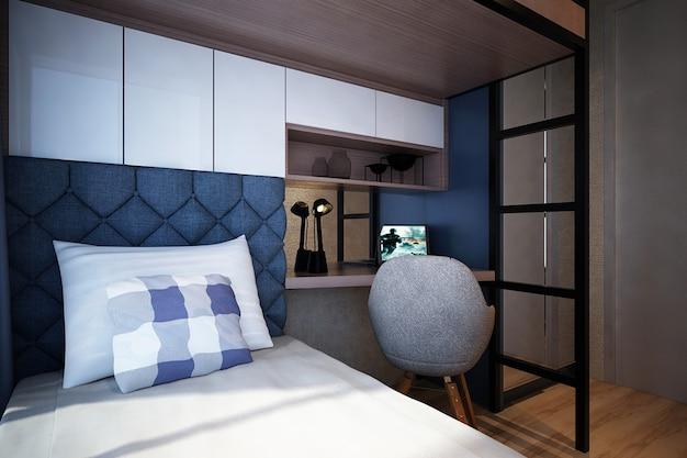 현대적인 미니멀리즘 어린이 침실 인테리어 디자인