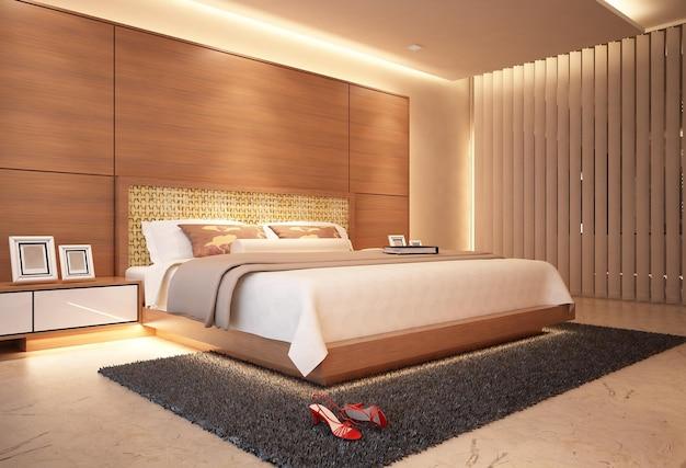 현대적인 미니멀리즘 마스터 침실 인테리어 디자인 아이디어와 컨셉