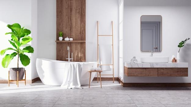 Modern and minimalist bathroom interior