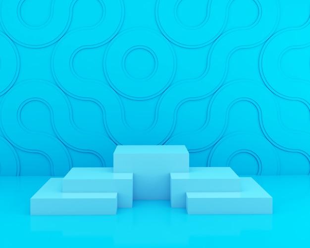 Современный минималистский макет для подиума или витрины.