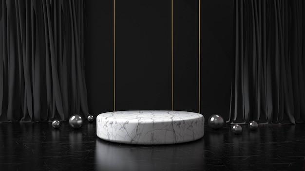 Modern minimalist podium display