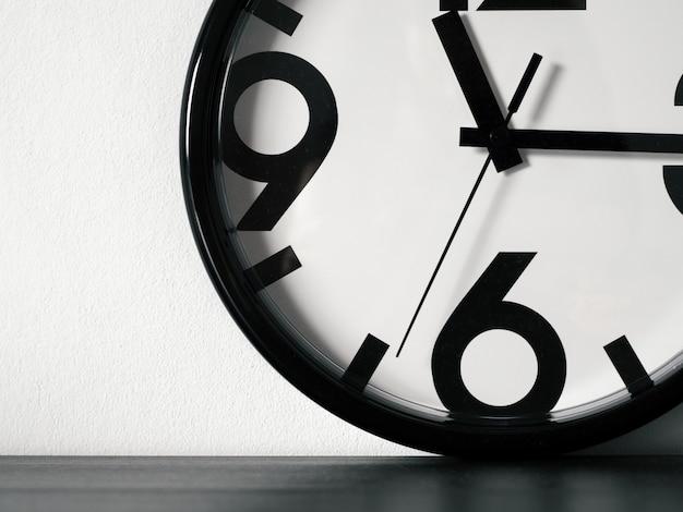 Modern minimalistic wall clock, copy space
