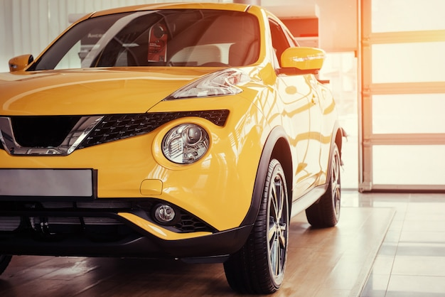 쇼룸에서 현대 모델 자동차