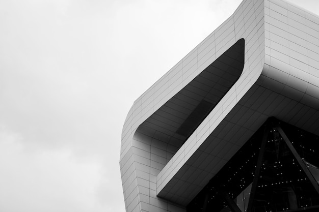 Modern office building, image on black and white