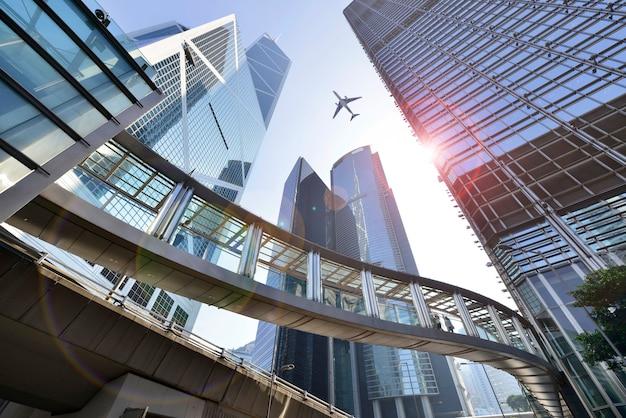 Современные офисные здания в центре гонконга