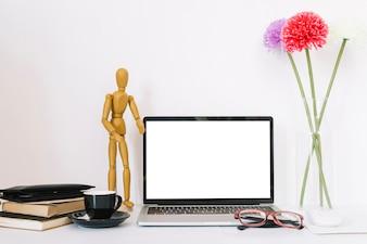Modern office desk composition