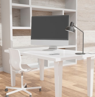 Modern office with computer