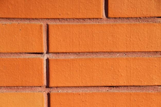 Modern orange brick wall