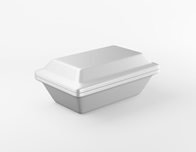 Modern packaging rectangular box glossy metal box. 3d rendering.