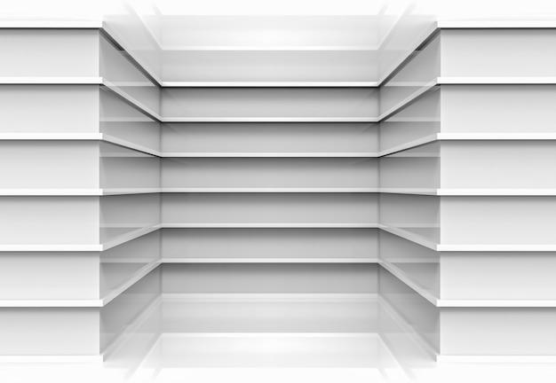 Modern parallel gray panels design corner wall background.