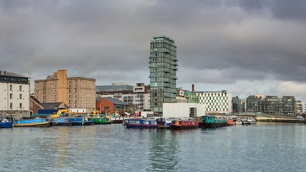 Modern part of dublin docklands, known as silicon docks