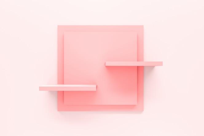 Modern pastel pink shelf