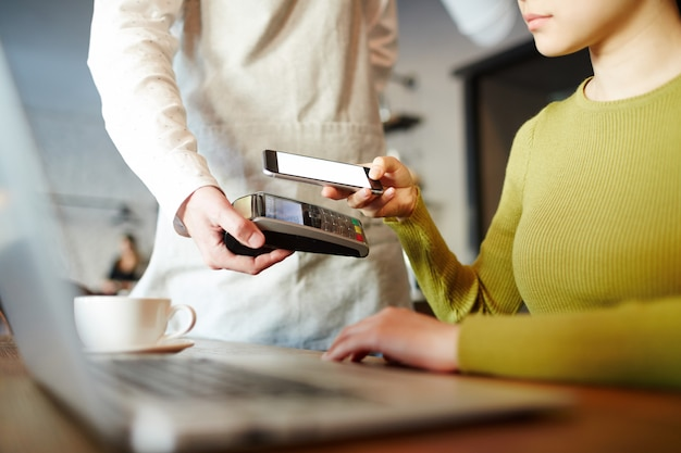 Modern payment with smartphone app