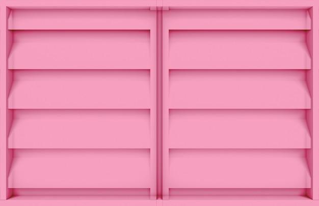 Modern pink wood panel window design wall background.
