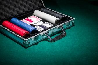 Modern poker cards composition