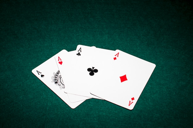 Modern poker cards composition