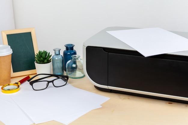Modern printer machine for home use close up