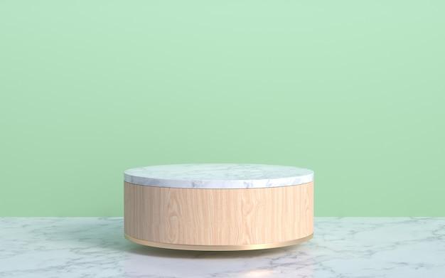 Подиум дисплея современного продукта с солнечным светом.