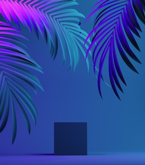 現代の製品スタンド表彰台台座、化粧品や商品の展示ショーケース。 3dイラスト。